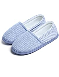 5c53fc9f7cfa ChicNChic Women Comfortable Cotton Home Slippers Soft Sole Slip on Indoor House  Shoes