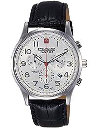 Swiss Military Hanowa - 06-4187.04.001 - Montre Homme - Quartz Analogique - Chronomètre - Bracelet Cuir Noir