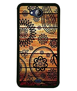 PrintVisa Designer Back Case Cover for Micromax Canvas Play Q355 (The Floral Design On Wood )