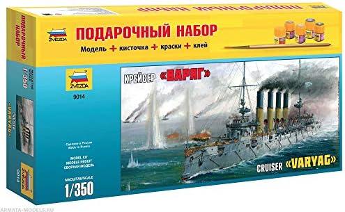 ZVEZDA ZVEZDA ZVEZDA 9014 P Croiseur Protégé Varyag  - Coffret Cadeau (Peintures Incluses) - Kit de modèles en Plastique - Échelle 1/350 306 Détails Longueur 35 cm | Excellente Qualité  b54930