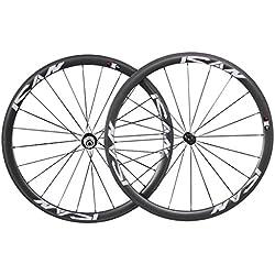 ICAN 38mm ruedas carbono Tubular bicicleta de carretera ruedas 20/24agujeros Shimano 10/11Velocidad