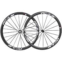 Ruedas de bicicleta de carretera de 38 mm, 20/24 agujeros, de carbono