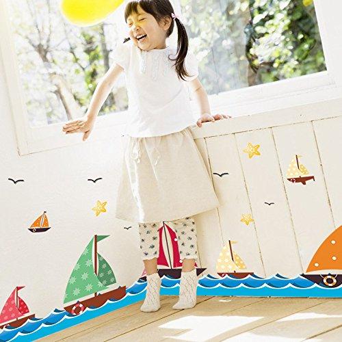 Vinilos de navegación en el mar salón dormitorio habitación infantil rinconera decoración pvc