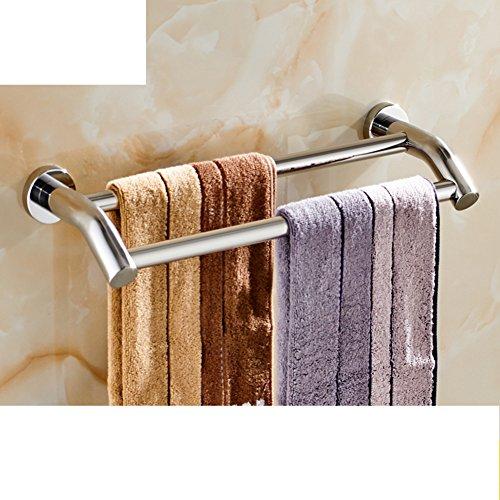 Portasciugamani in acciaio inox/ bagno asciugamano appeso/ bathroom wall e Sapone/ doppia cremagliera di tovagliolo-E