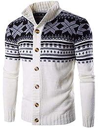 BoBoLily Otoño E Invierno De Suéter Hombres Hombres Estilo Étnico De Punto Cardigan Stand Collar Sweater