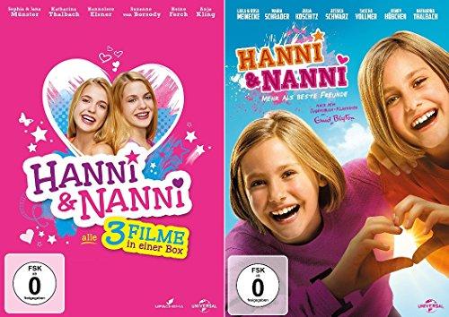 Hanni & Nanni - 4 Filme Set (Box Film 1-3 + 4 mehr als beste Freunde) - Deutsche Originalware [4 DVDs]