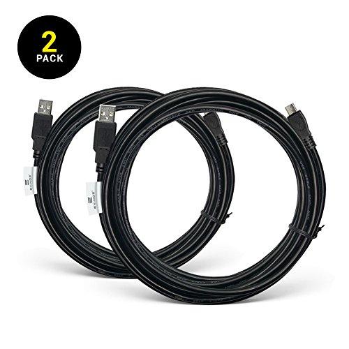 EXINOZ® 4m Ladekabel für PS4 Dual Shock und Xbox One Controller | Perfekte Länge USB Kabel für Playstation 4 und Xbox | Qualitativ-hochwertiges Kabel mit 1 Jahr Umtauschgarantie (2 PACK) Xbox One Spiel Controller-ladegeräte