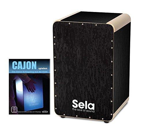 sela-se-023-wave-cajon-black-pearl-set-inkl-cajonschule-mit-herausnehmbarem-snare-system-austauschba