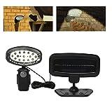 LED Solarleuchte Solarlampe Solar Lampe Strahler 15 LEDs mit Sensor Bewegungsmelder und Verlängerungskabel