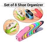 #6: TIED RIBBONS 8 Pcs Shoe Organizer Organiser Shoe Shelf Rack Space Saver, Storage Cum Organizer
