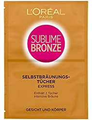 L'Oreal Paris Selbstbräuner Sublime Bronze Selbstbräunungstücher 2x5,6ml