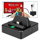 Ladestation für Nintendo Switch - innoAura Tragbares Switch Ersatz zum Aufladen TV Dock mit speziellem kühlende Struktur, USB C Stromanschluss, USB 3.0 und HDMI Port -
