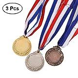 STOBOK Oro Medaglie per Bambini Trofeo Medaglie precoce Giocattoli per l'apprendimento interessanti