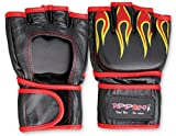 M.A.R International Ltd. echtes Leder Open Palm MMA ULTIMATE FIGHTING Handschuhe Muay Thai Power Data Grapple & Strike Handschuhe Gym Fitness Supplies Sparring Gear XL schwarz