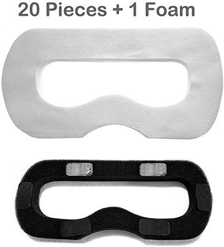 20 Pcs Jetable Hygiène Masque Facial Oeil Couverture avec 1 Pcs Remplacement Mousse Tapis pour HTC VR Vive Réalité Virtuelle Casque
