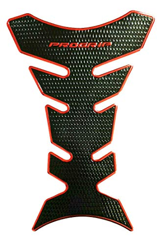 Tankpad Tankschutz Motorrad Carbon Optik schmal universal Rot/Schwarz (Progrip)