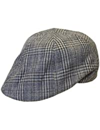 Mens Ladies Quality Checked Fashion Hat Preformed Shaped Flat Cap Hat