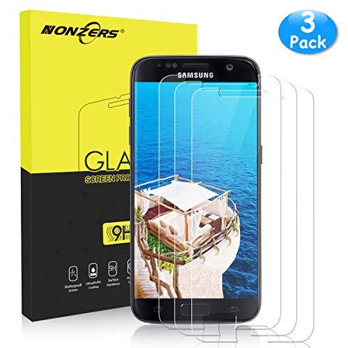 NONZERS Protector de Pantalla para Samsung Galaxy S7 Vidrio Templado, [3 Unidades] 9H Dureza HD Vidrio Templado Anti-Arañazos Sin Burbujas Compatible con 3D Touch - Transparente