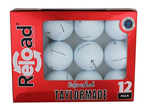 TaylorMade Reload Golfbälle aus recyceltem Harnstoff Rocketballz, 12 Stück (Rocketballz Driver Golf)