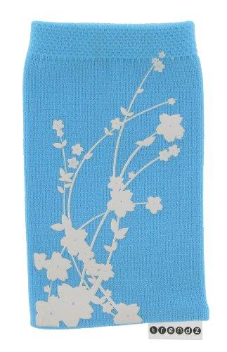 Trendz Universal Smartphone Handysocke - blau Blossom