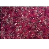 Farbenspiel Schmuckzubehör Baumwollstoff 115cm breit • Stoff Weihnachten • 13 Motive zur Auswahl (Goldengel rot)
