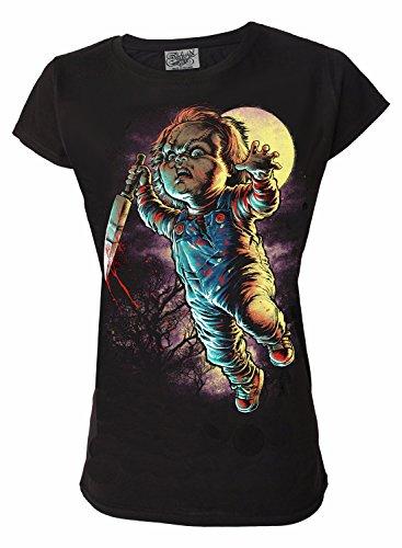 Chucky Genuine Darkside Horror Film Womens T Shirt