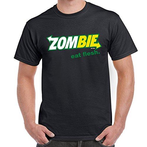 che coole fun T Shirts-Zombie Eat Flesh-Zombie-Fleisch essen-Schwarz-Large ()