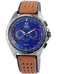 pierrini Hombre Cronógrafo Reloj de pulsera, esfera azul, 24horas pantalla | Función parada | 50mm de diámetro–291173000003