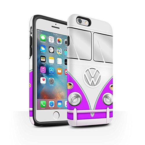 STUFF4 Matte Harten Stoßfest Hülle / Case für Apple iPhone 7 Plus / Rot Muster / VW Campingbus Kollektion Lila