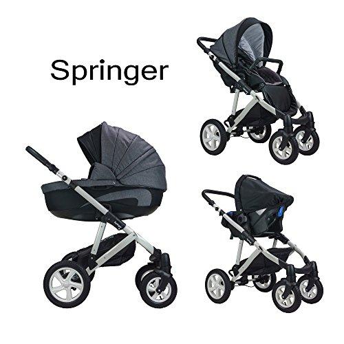 Springer 3 in 1 Kombi Kinderwagen Baby Erstausstattung Buggy Sportwagen Kombikinderwagen Set CityStyle (7. Dubai)