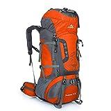Easy Kunst - Zaino da trekking e da viaggio, 80 l, per escursioni e alpinismo, Orange