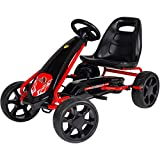Rip-X NexGen Pedal Racer Go Kart Ride On Car Toy with Adjustable Seat and Racing Wheels - Black