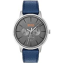 6f0ba24f1b05 Hugo Boss Orange Reloj Multiesfera para Hombre de Cuarzo con Correa en  Cuero 1550066