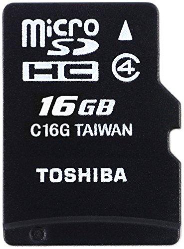 Toshiba HIGH SPEED M102 Micro SDHC 16GB Klasse 4 Speicherkarte (bis zu 4MB/s lesen) (Micro-sd-32gb Toshiba)