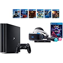 PlayStation VR Launch Bundle 8 Items:VR Launch Bundle,PlayStation 4 Pro 1TB,6 VR Game Disc Until Dawn: Rush of Blood,EVE: Valkyrie, Battlezone,Batman: Arkham VR,DriveClub,Battl(US-Version, Importiertes)