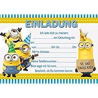 Schön 10 Einladungen Zum Kindergeburtstag Minions