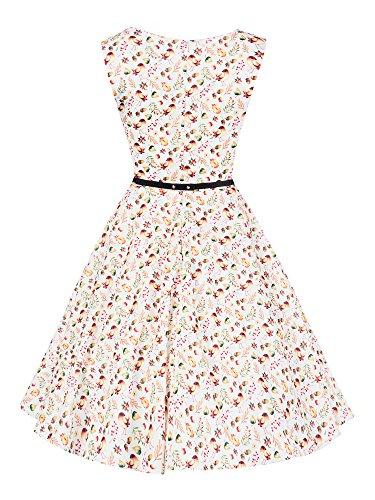 N361 Damen Kleid Rockabilly Petticoat Sommerkleid Retro 50er Jahre Vintage Party D14465-1001-2