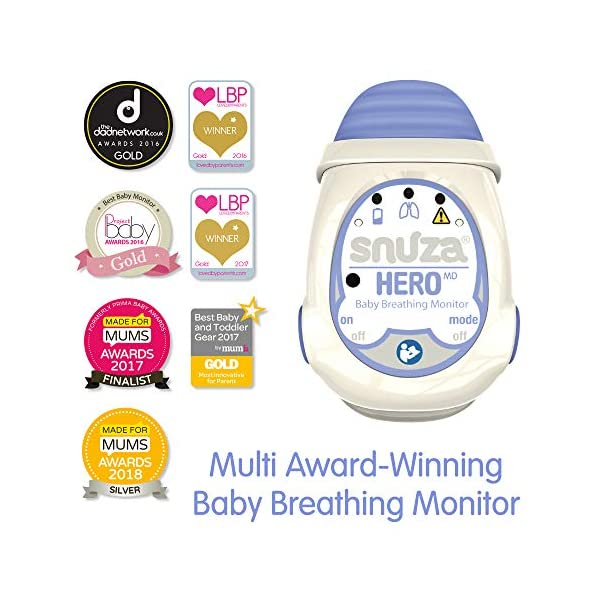 Snuza Hero MD (Medically Certified) Portable Baby Breathing Monitor Snuza No cords, wires, pads, or external power Portable and easy to use monitoring device Certification CE (93/42/EECEuropean Medical Device Directive) 4