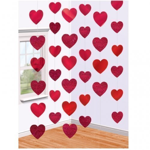 Valentines-Day-Red-Hearts-Hanging-String-Decorations-x-6