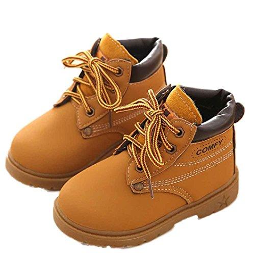 Amlaiworld Für 1-6 Jahre Alten Jungen Schuhe, Baby Art Stiefel warme Schuhe (24, Gelb)