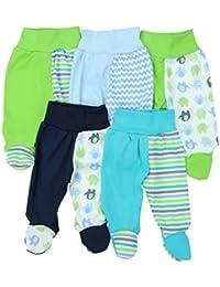 TupTam Baby Hose mit Fuß Jungen Strampelhose Babyhose Strampler Mädchen Stramplerhose im 5er Pack