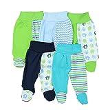 TupTam Baby Hose mit Fuß Jungen Strampelhose Babyhose Strampler Mädchen Stramplerhose im 5er Pack, Farbe: Mädchen, Größe: 80