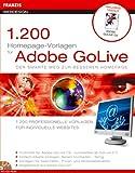 1200 Homepagevorlagen für Adobe GoLive