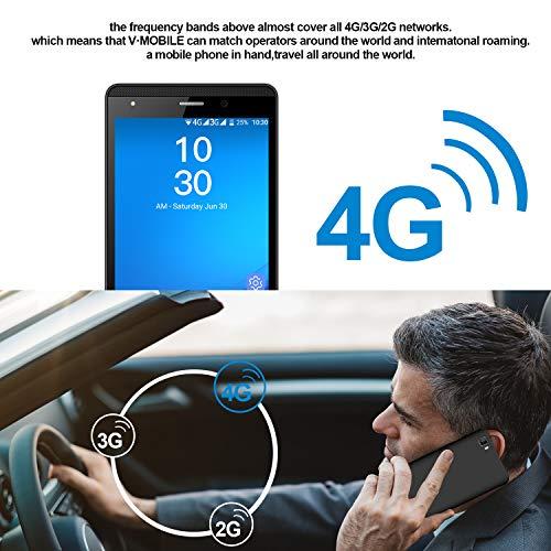 Smartphone Pas Cher 4G, 16Go ROM, J3 (2019) 5.0 Pouces, 5MP Android 7,0 Dual SIM Telephone Portable Debloque 2800mAh WiFi GPS Bluetooth 4.0 Telephone Portable Pas Cher sans Forfait (Noir)