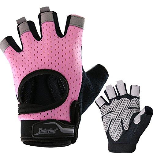 AHAHA Hanteln Handschuhe Anti-Rutsch-Fitness-Workout-Handschuhe Halbfinger-Trainingshandschuhe Fitness für Männer und Frauen