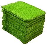 NatureMark NM-HT0829 Guanti da Bagno in Spugna, Confezione da 10, 15 x 21 cm, 100% Cotone Verde Mela