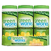 Green Works CLO 30655 Compostable Cleaning Wipes, 7