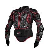 FANGXIN Motorrad Fahrrad Protektoren Jacke Schutzkleidung Schutzjacke Schwarz/Rot M L XL XXL XXXL