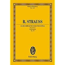 Also sprach Zarathustra: Tone Poem. op. 30. Orchester. Studienpartitur. (Eulenburg Studienpartituren)