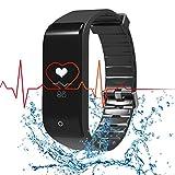 Fitness Tracker RIVERSONG WaveFit cardiofrequenzimetro intelligente Bluetooth 4.0 monitoraggio del sonno Distanza passo Distanza Calorie Counter pedometro sportiva Tracker Smartband per iPhone Smartphone Android